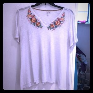 🌷Lovely Floral VNeck Top SzXL 🌷